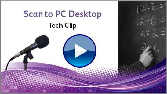 Tech Clip-Scan to PC Desktop